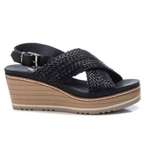 Ladies XTI Black Sandal 42334