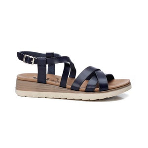 Ladies XTI Navy Sandal 42514
