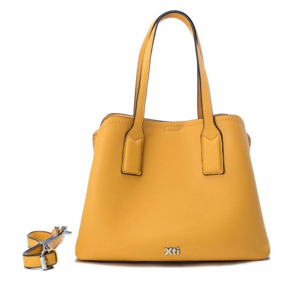 Ladies Yellow Handbag Faux Leather XTI 86257 Delivery Throughout UK