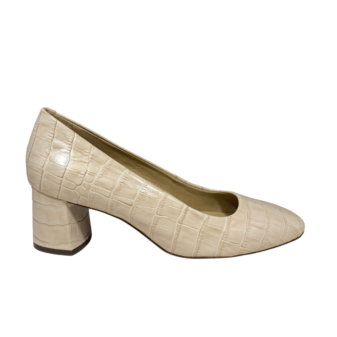 Ladies Maria Lya Leather Nude Court Shoe 57500