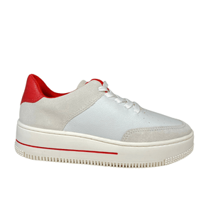 Ladies Maria Lya White Trainer 318701
