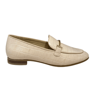 Ladies Maria Lya Leather Nude Loafer 54546
