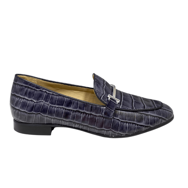 Ladies Maria Lya Leather Navy Loafer 54546