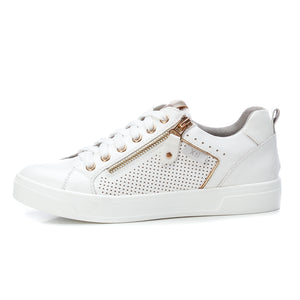 Ladies Faux Leather White Trainer XTI 49787 Delivery throughout the UK