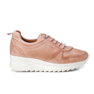 Ladies Carmela Leather Nude Trainer 67143