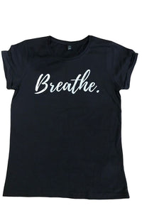 Blossom Breathe Black Active Top