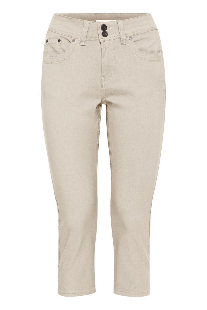 Ladies Fransa Zalin Sand (151306)Skinny Chino 601748