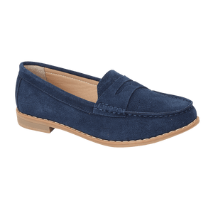 Ladies Emma Navy Suede Loafer Sophie Delivery throughout UK