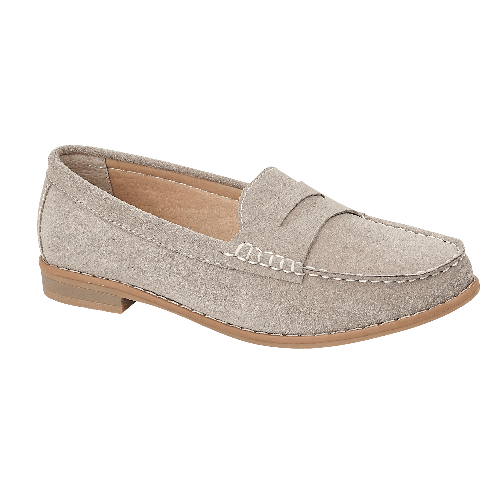 Ladies Emma Taupe Suede Loafer Sophie Delivery Throughout UK