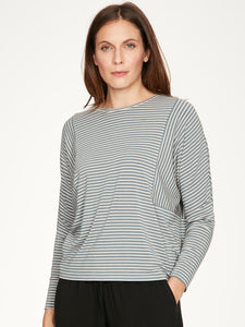 Ladies Thought Striped Leisure Top 4927