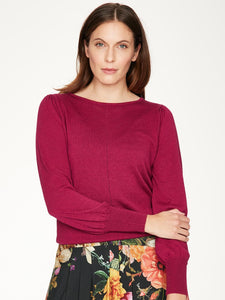 Ladies Thought Red Leisure Top 5045