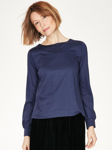 Ladies Thought Clothing Navy Leisure Top 5090