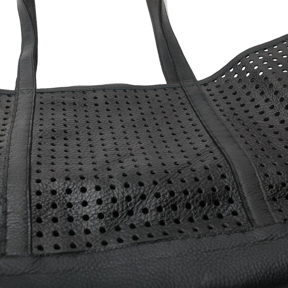 ARDEN TOTE, Brushed Black