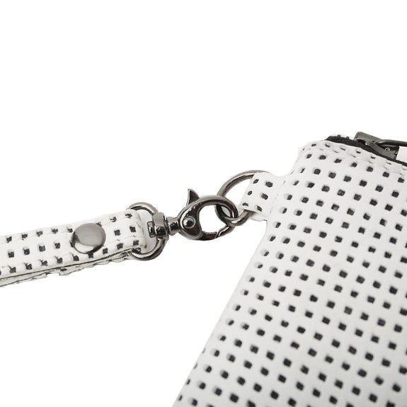 BLY CLUTCH, Graphic White