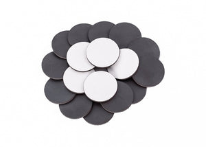 "2"" Adhesive 30 mil Magnetic Peel and Stick Circles for Magnet Crafts, Photos and Business Cards"