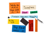 "1"" x 10"" Dry Erase Magnetic Shelf Labels White and Colors"