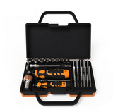 31 IN 1 Professional repair tool set with rotatable ratchet handle & extension bar