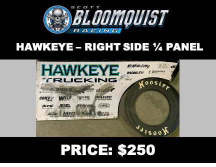HAWKEYE TRUCKING - RIGHT SIDE 1/4 PANEL