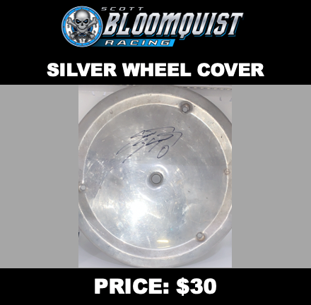 SILVER WHEEL COVER - SIGNED
