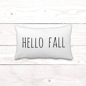Hello Fall Lumbar Pillow