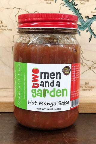 two men & a garden salsa - HOT MANGO