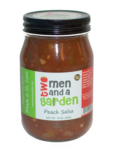 two men & a garden salsa - PEACH