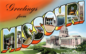 Greetings From Missouri Postcard