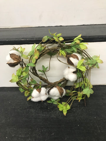 Candle Ring - Greens/Cotton