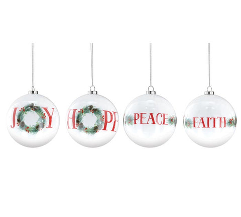 Message Ornaments with Greenery