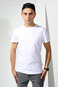 Basic T-shirt with stamp - White - PLM T-Shirts