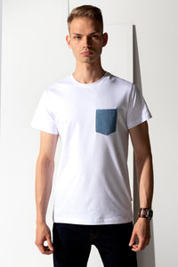 Pocket Jeans T-shirt - White