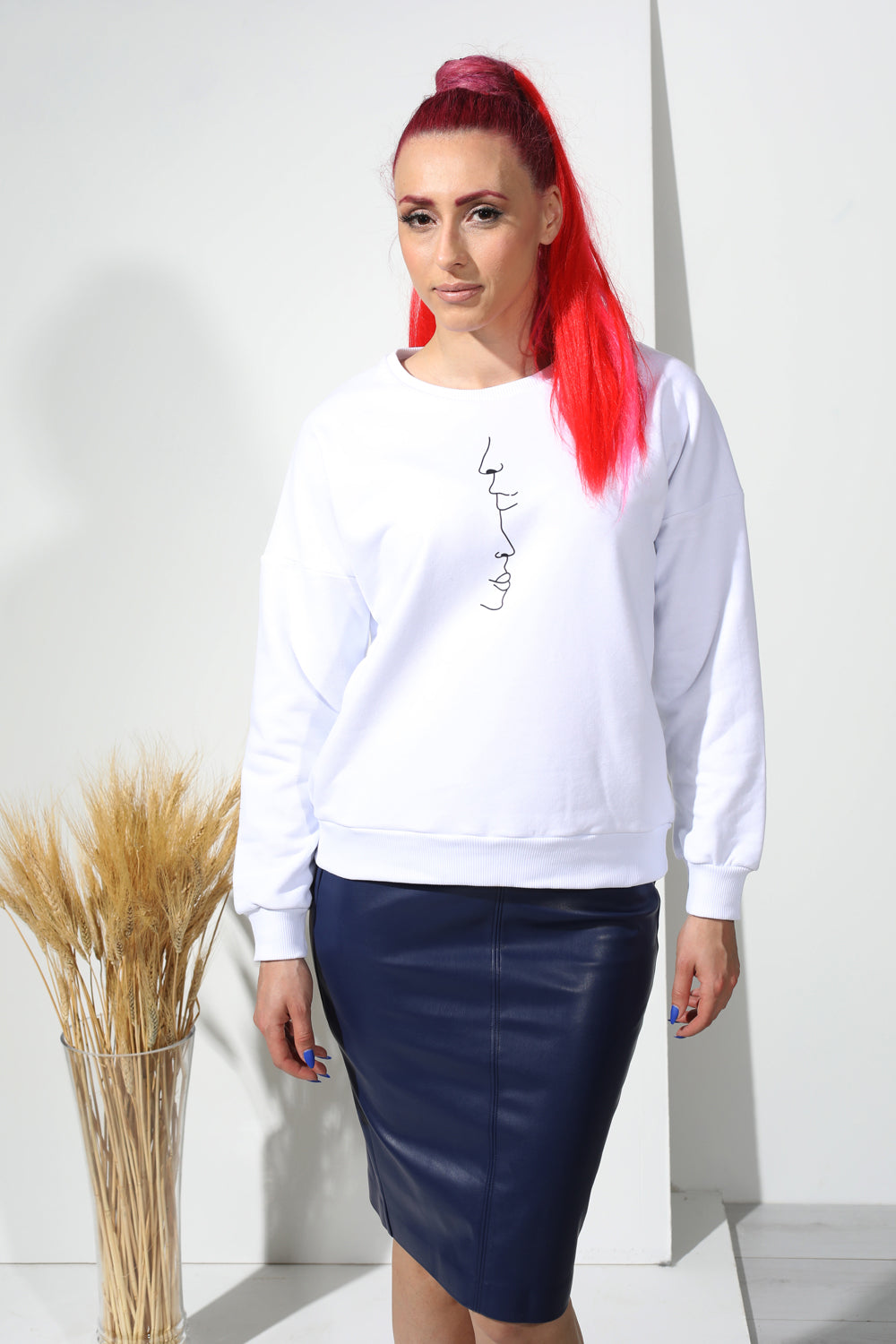 Sweatshirt with stamp - PLM T-Shirts
