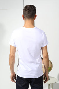 Basic T-shirt with stamp - White