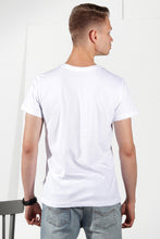 Load image into Gallery viewer, Basic T-shirt with stamp - White - PLM T-Shirts