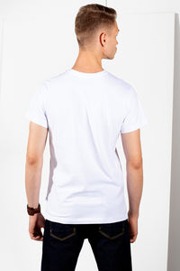 Pocket Jeans T-shirt - White - PLM T-Shirts
