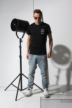 Load image into Gallery viewer, Basic T-shirt with stamp - Black - PLM T-Shirts