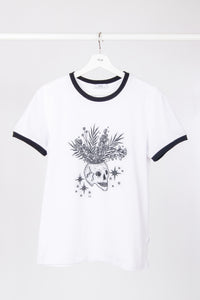 Colored Edges T-shirt with stamp - White - PLM T-Shirts