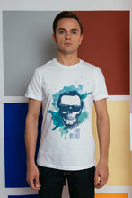 Load image into Gallery viewer, Organic T-shirt with stamp - White