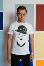 Load image into Gallery viewer, Basic T-shirt with stamp - White