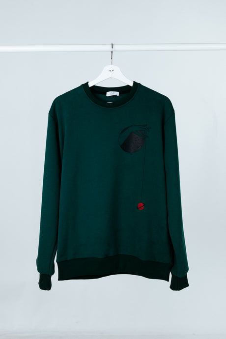 Sweatshirt - with stamp Hand Planet