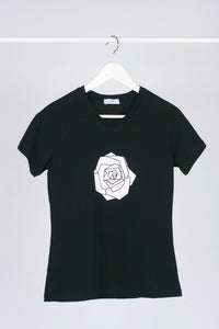 Raglan T-shirt with stamp - Black
