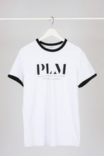 Load image into Gallery viewer, Colored Edges T-shirt with stamp - White - PLM T-Shirts