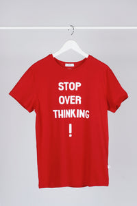 Basic T-shirt with stamp - Red - PLM T-Shirts