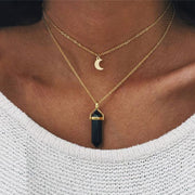 Stone and Moon Vintage Necklace - Trendmart