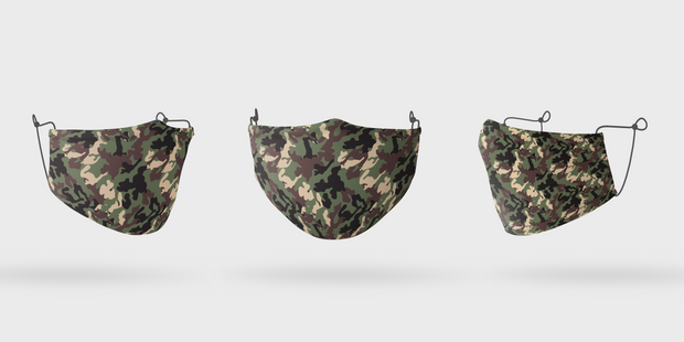 Face Mask - Camo Dark
