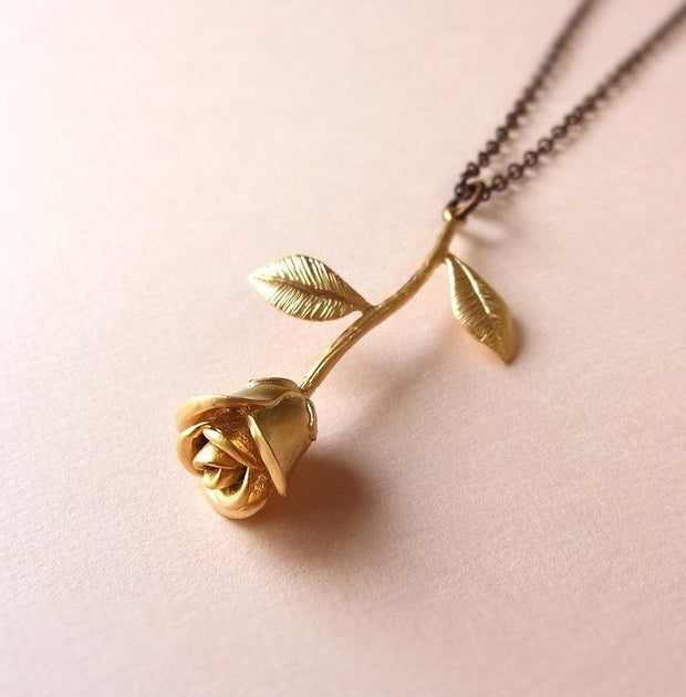 Exquisite Blooming Rose Pendant - Trendmart