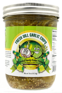 Fresh Dill Garlic Pickle Chips