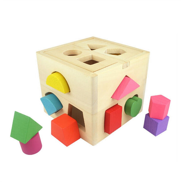 Classic Wooden Geometric Shape - Identifying Shapes and Colors