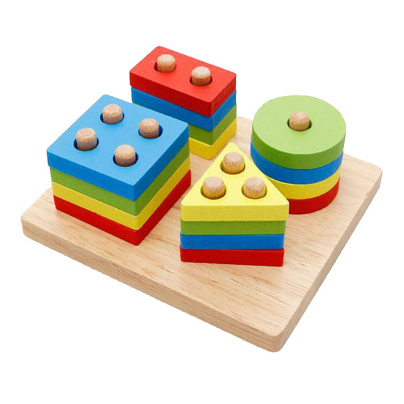 Wooden Building Blocks Set Puzzles Structure