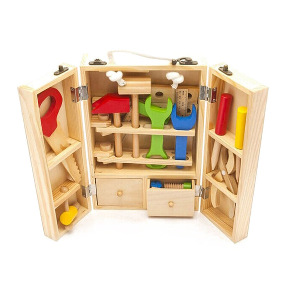 Wooden Simulation Toolbox Set Toy